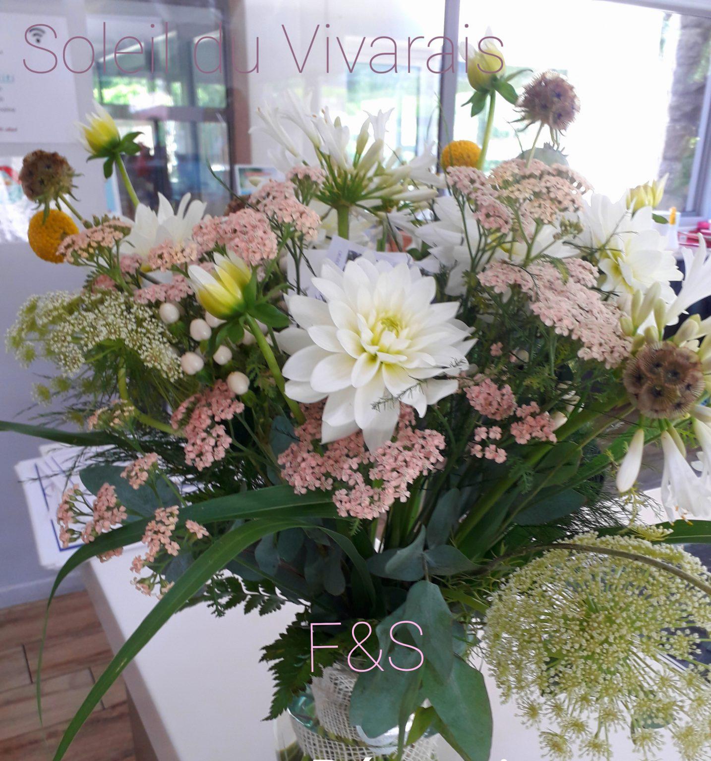 bouquet accueil Dahlias